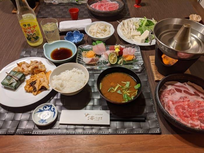 海うさぎ 夕食
